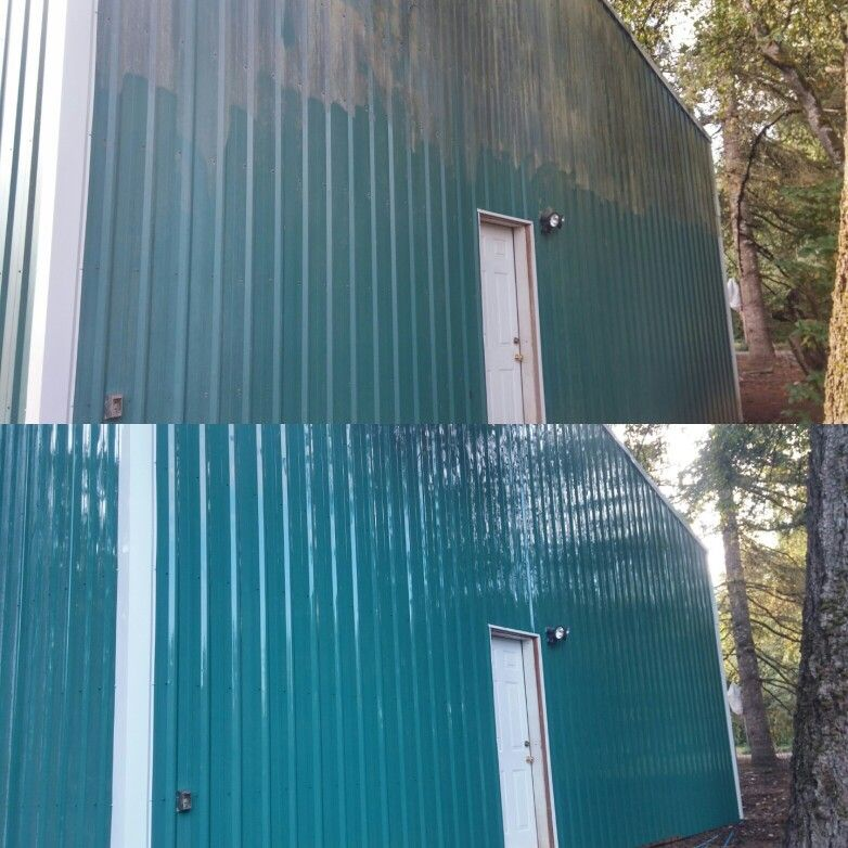 Metal building soft wash metal buildings outdoor decor