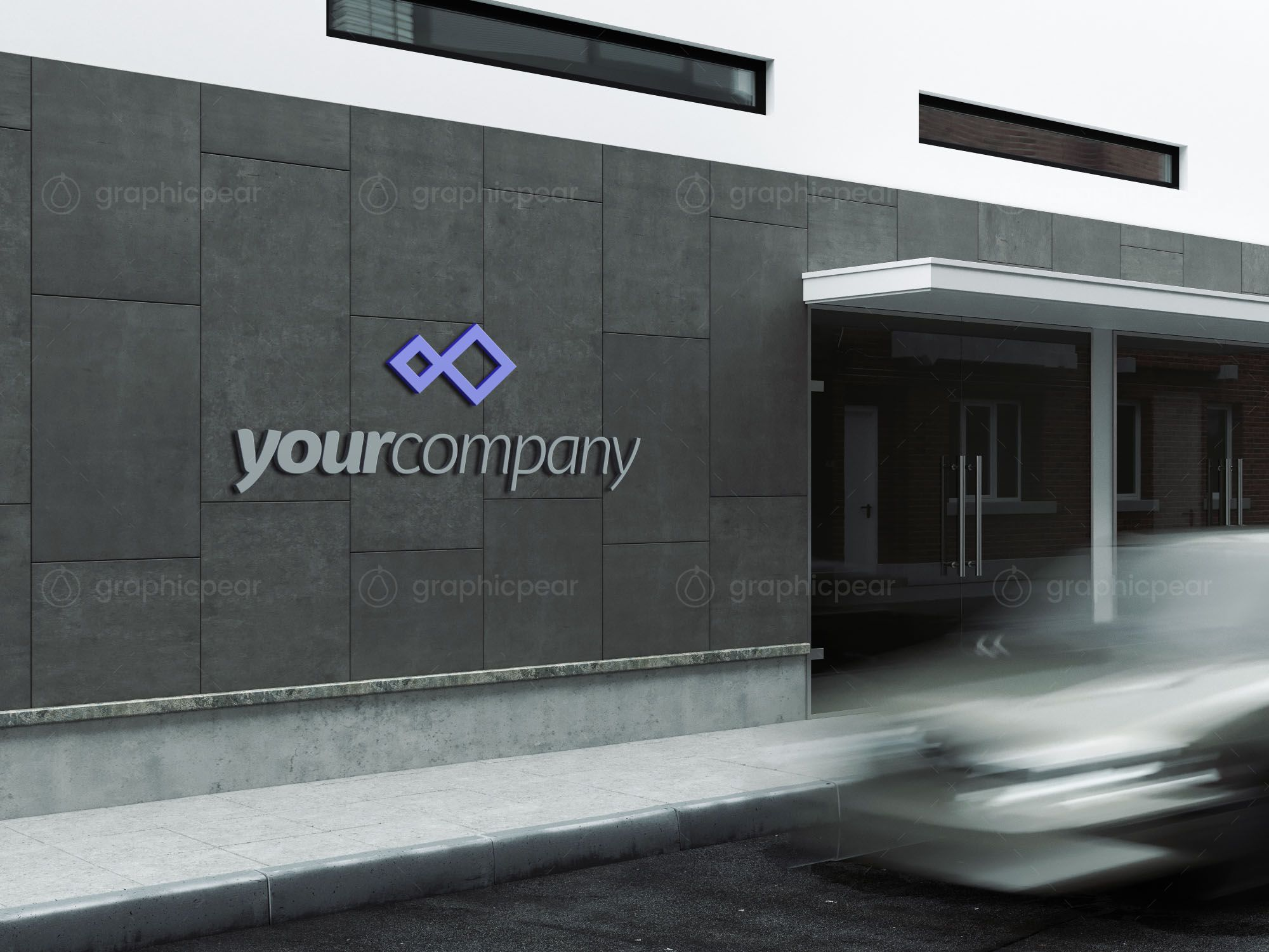Company Building Sign Mockup In 2021 Building Signs Mockup Sign Mockup