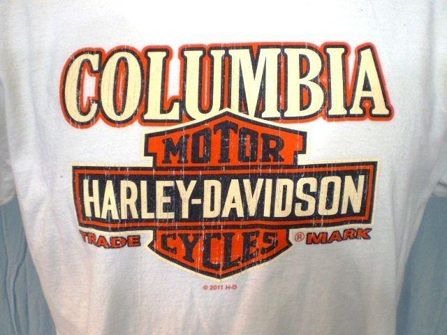 Harley Davidson White Large T Shirt Vancouver Wa Cotton Harleydavidson Harley Davidson T Shirts Harley Davidson Harley Davidson Shirt