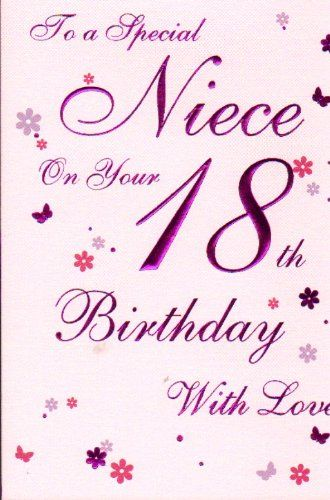 Fabulous Special Niece 18Th Birthday Birthday Card Birthday Card Funny Birthday Cards Online Alyptdamsfinfo