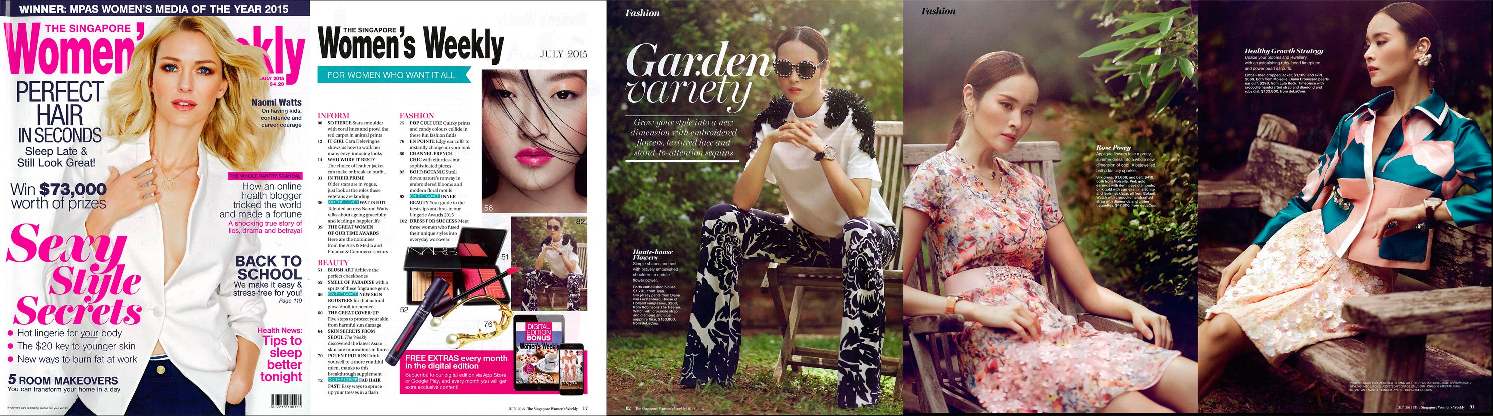Womens_Weekly, Singapore 2015. deLaCour Watches