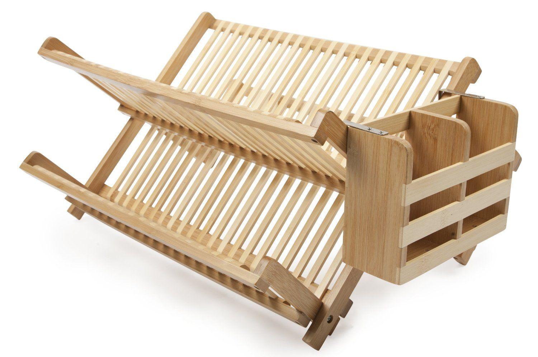 Amazon.com: Core Bamboo Dish Rack with Utensil Holder, Natural ...