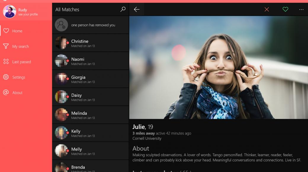 Tinder app 6tin for Windows 10 gets GIF support | Tinder