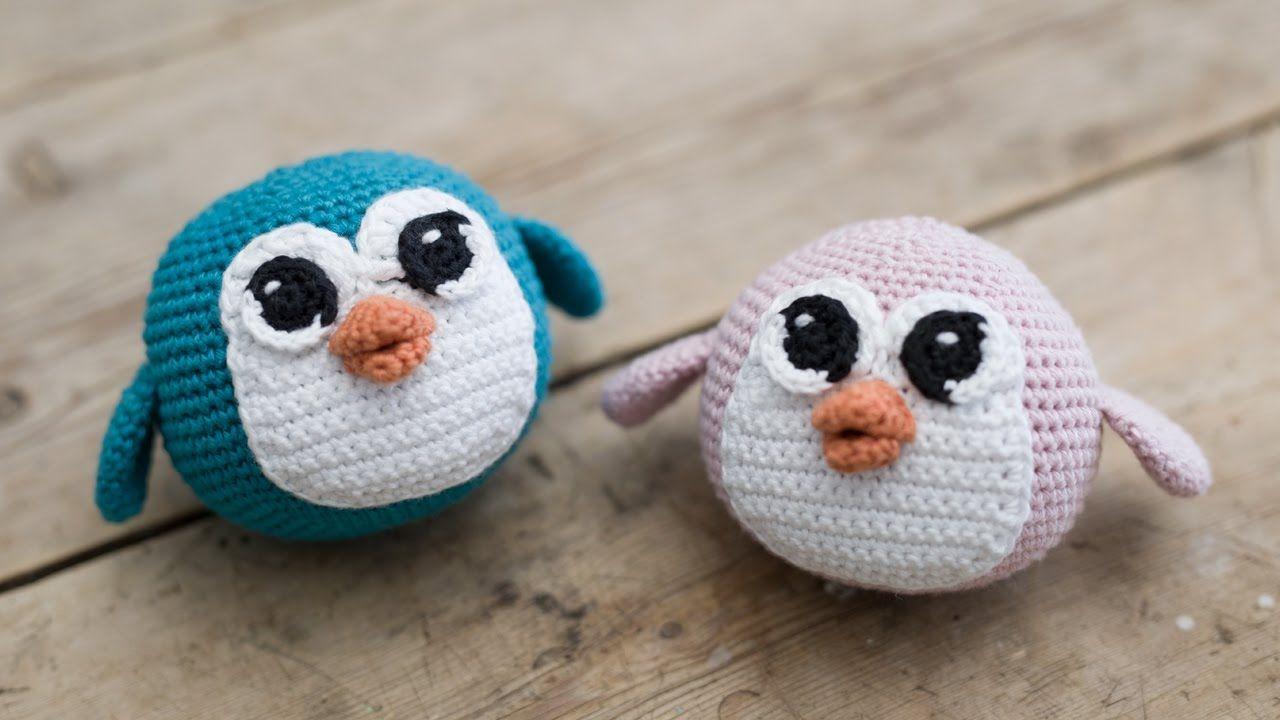 DIY: Penguin with free crochet pattern by www.ojhæklerier and Søstrene Grene
