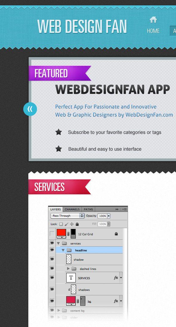 Create A Portfolio Web Layout in Photoshop #webdesign
