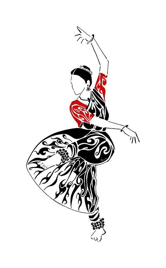 Bharatanatyam Painting Strike A Pose By Anushree Santhosh Dancers Art Dance Paintings Dancing Drawings