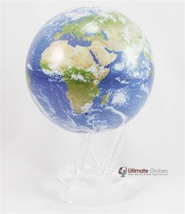 Mova Earth View With Cloud Cover Revolving Globe 4 5 Inch