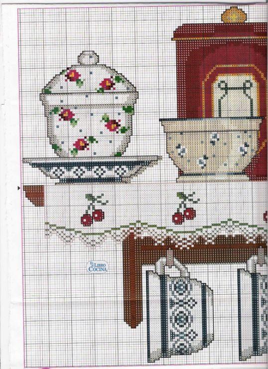 Sur l 39 tag re grille 1 4 broderie point de croix - Cuisine et croix roussien ...
