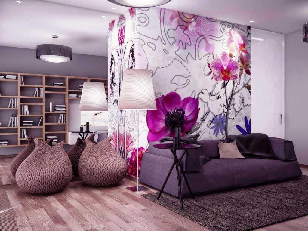 ツ 20 Contoh Desain Wallpaper Dinding Ruang Tamu Minimalis