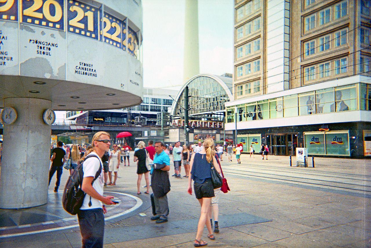Berlin Alexanderplatz July 2014 An Analogue Photograph Taken On A Cheap Single Use Camera Bought From The Dm Drug Single Use Camera Buying Camera Used Cameras