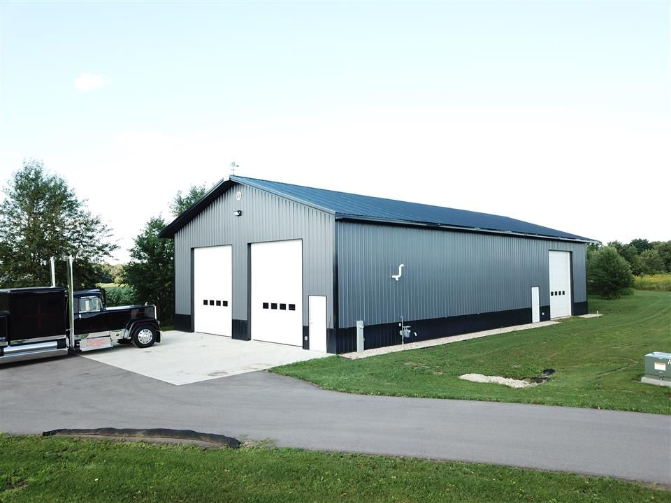 Single Project Cleary Buildings Grey Siding Metal Buildings
