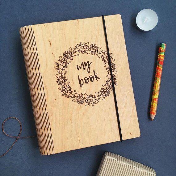 Wood Notebook Binder A5 Sketchbook Cover Custom Journal