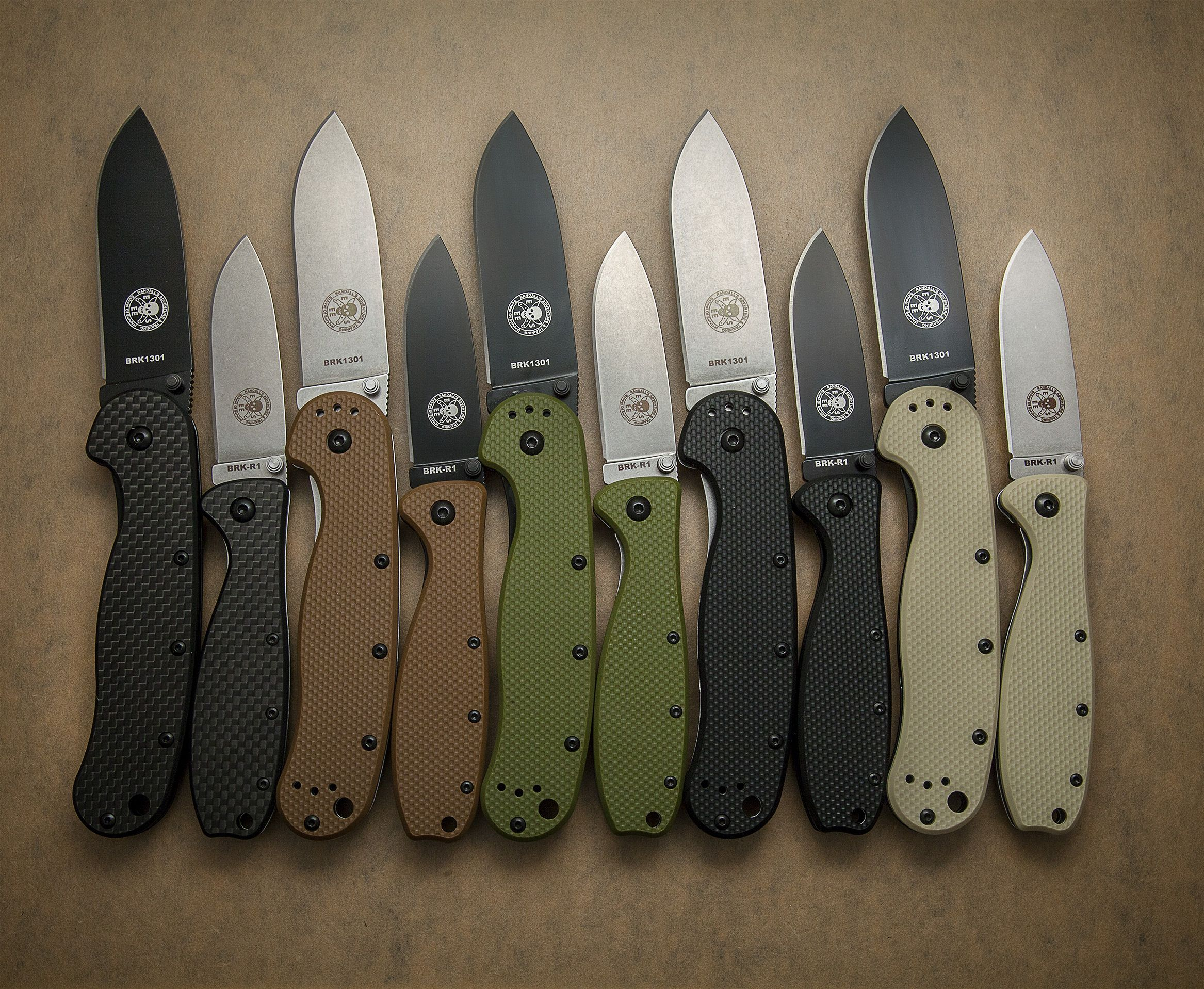 a smorgasbord of esee avispa and zancudo folding knives including