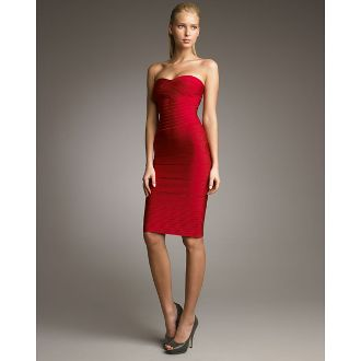 Red Strapless Bandage Dress by BQueen shop.glamfoxx.com