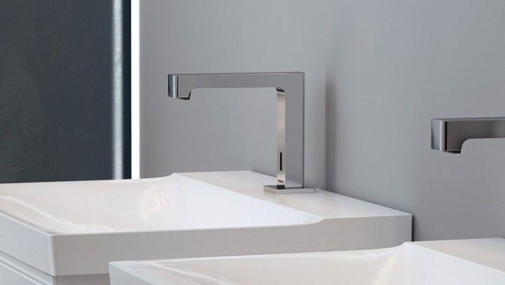 Geberit Brenta staande kraan voor wastafels in de badkamer en ...