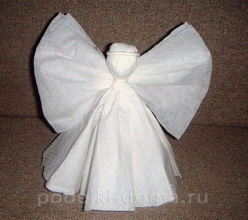 wenn sie einen sch nen engel aus servietten falten wollen. Black Bedroom Furniture Sets. Home Design Ideas