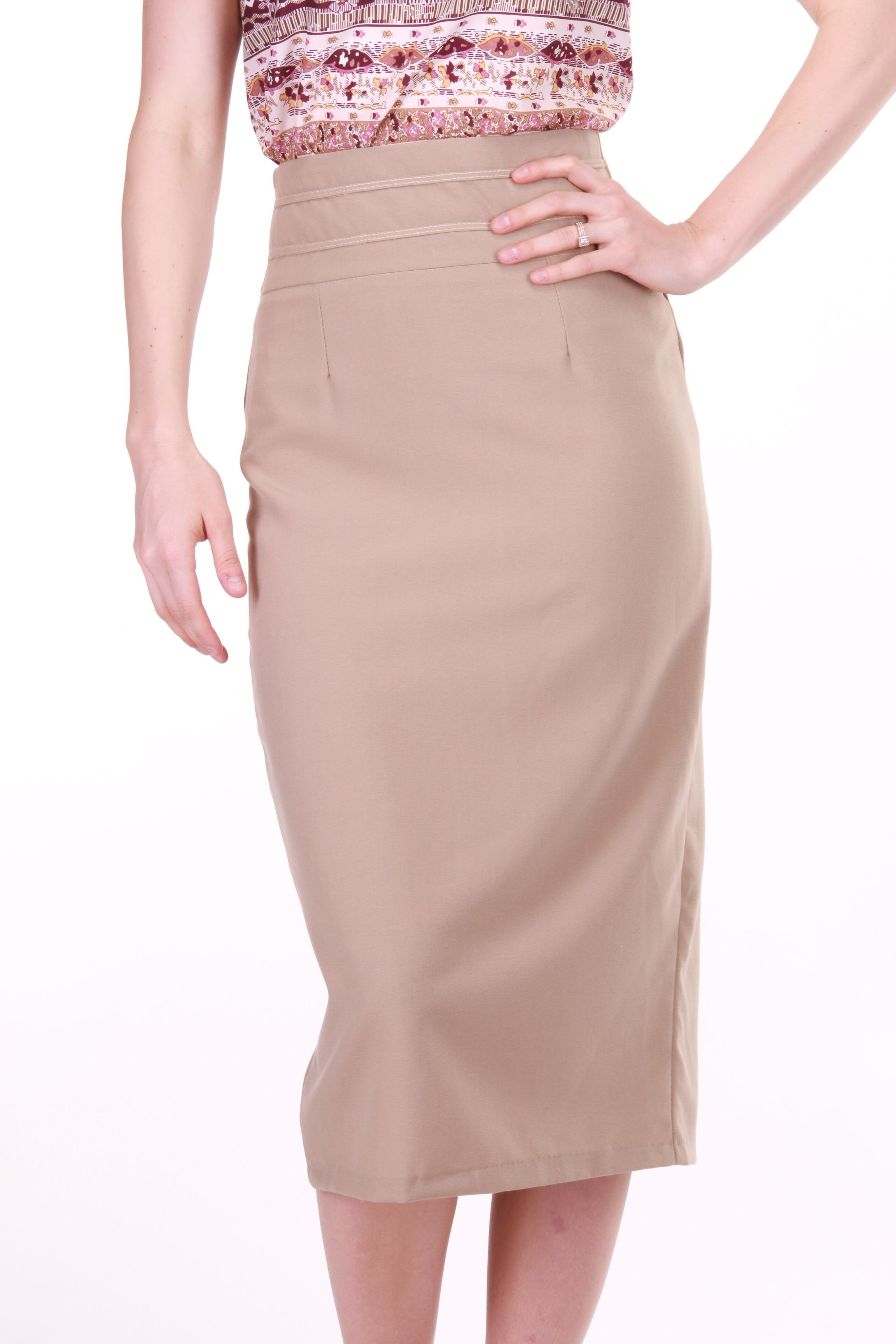 Edyn:High Waisted Pencil Skirt, Tan, S | Wish List | Pinterest ...