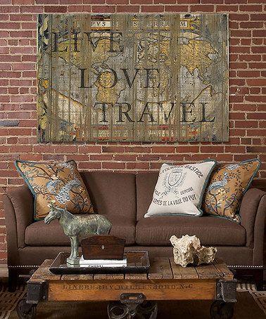 Live Love Travel Canvas Wall Art Zulilyfinds