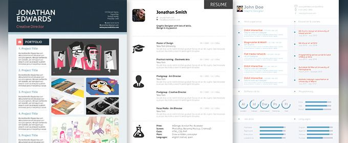 10 Professional Resume Templates to Help You Land That New Job - creative professional resumes