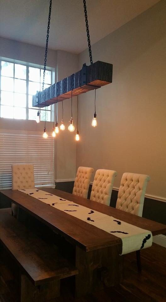 Rustic Industrial Wood Beam Chandelier Lamps Amp Lighting
