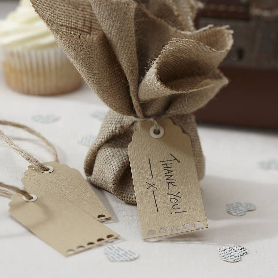 pack of 10 scallop edged brown kraft tags by ginger ray   notonthehighstreet.com