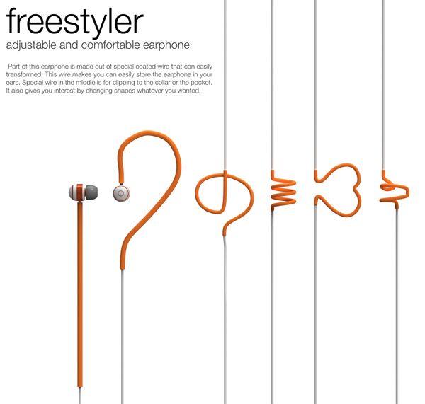 Freestyler – Earphone by Heewon Lee Esto es justo lo que tengo años buscando.