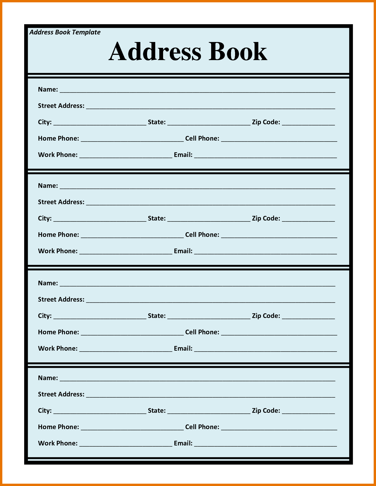 Sample Address Book Template | 7 Phone Book Template Itinerary Template Sample Misc Address