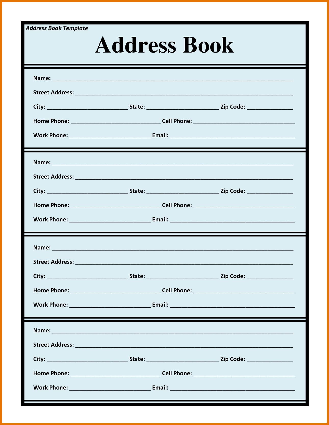 telephone book template