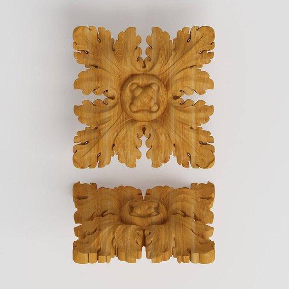 Wood Liques Onlay Furniture Carved Rosettes Lique Decor Diy Trim Su