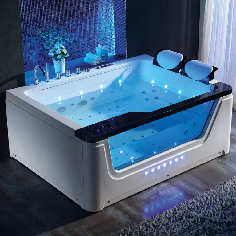 2 Person Whirlpool Bathtub With Tv And Waterfall Infrared Sauna Sauna Room Far Infrared Sauna Bathtub Design Dream Bathrooms Modern Bathroom Design