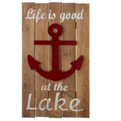 Cbk Home Away Life Is Good At The Lake With Anchor Wall Décor