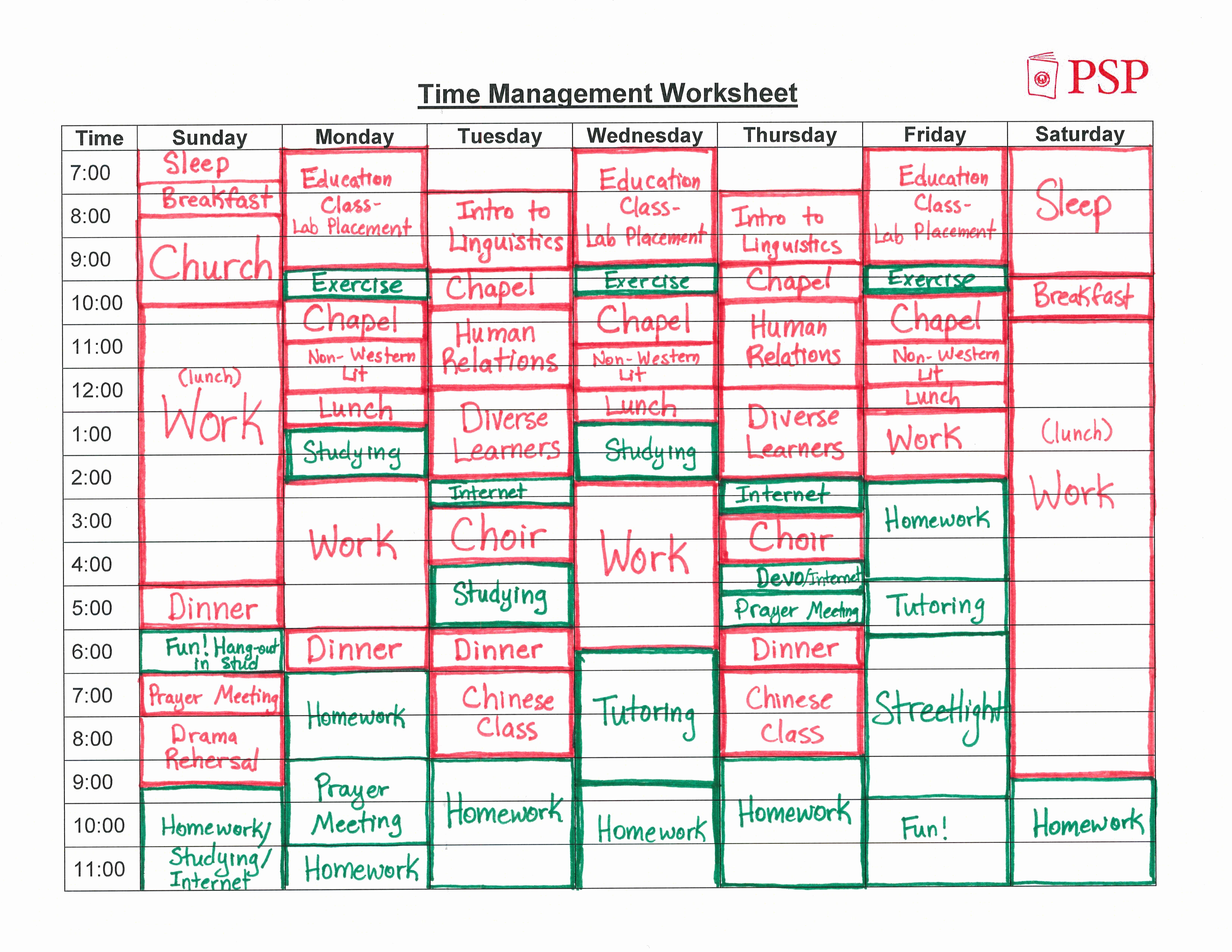Time Management Schedule Template Awesome Time Management