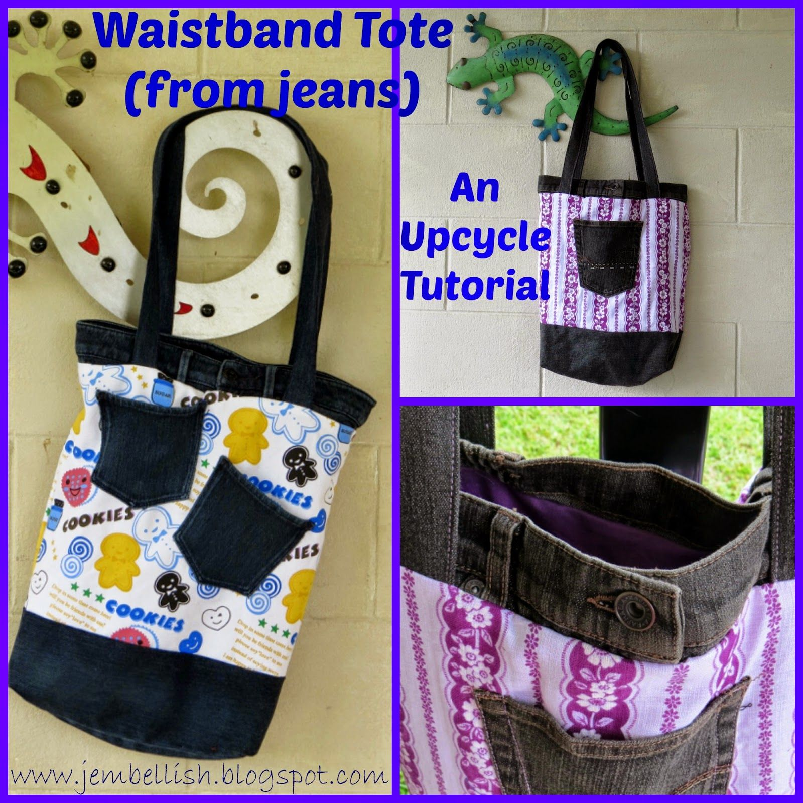 Creating my way to Success: Waistband tote - another jeans upcycle tutorial