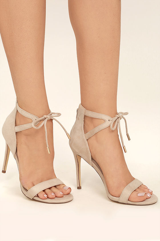 Nude heels with ankle strap frozen photos 97
