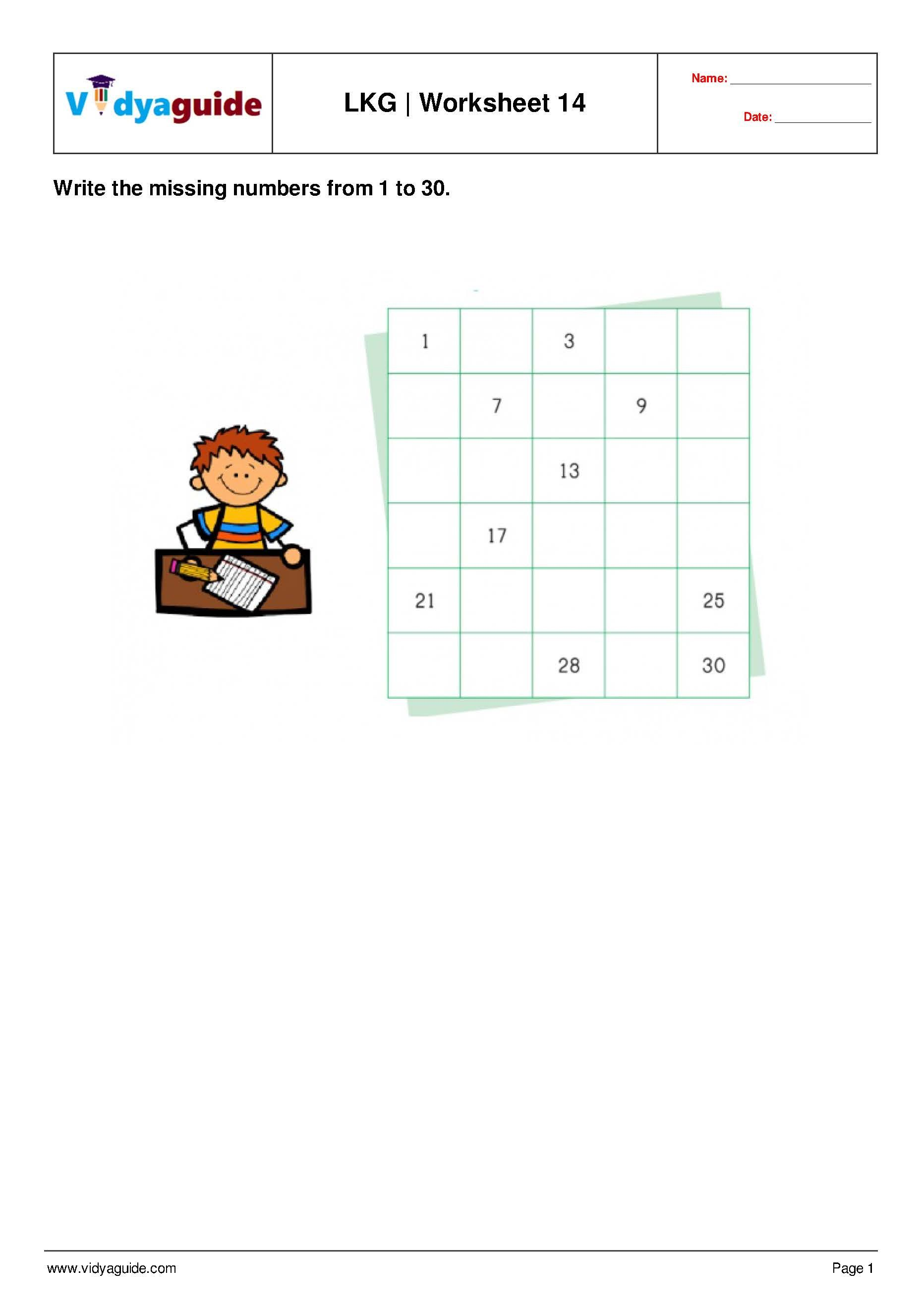 Lkg Worksheets Set 03