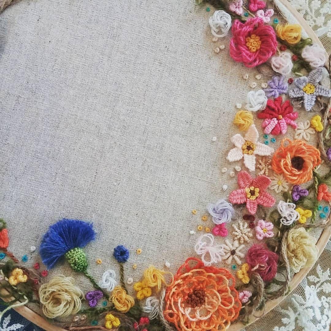 Embroiderystitchneedleworkstumpwork 프랑스자수일산프랑스자수
