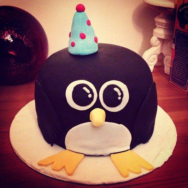 Penguin Birthday Cake I Made For My Boyfriend