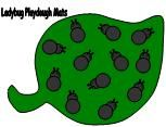 Playdough Mat for a Ladybug Theme for Ladybugs from Making Learning Fun.