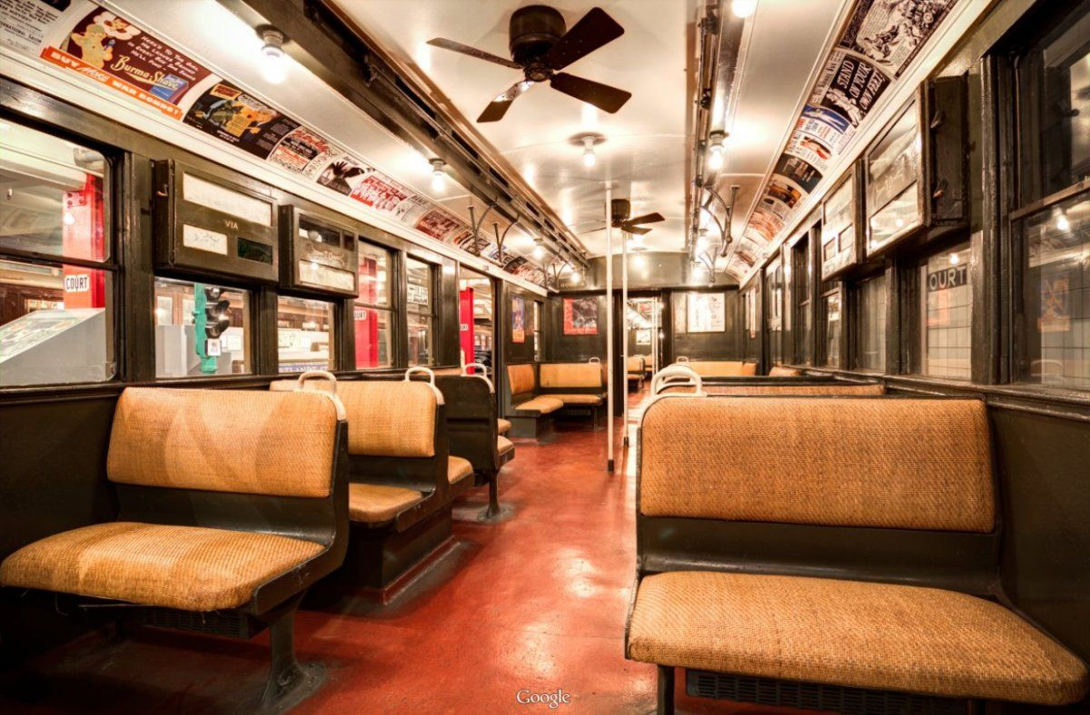 New York Transit Museum With Of One The First Car From 1904 Instead Wooden Ceiling Fanswooden