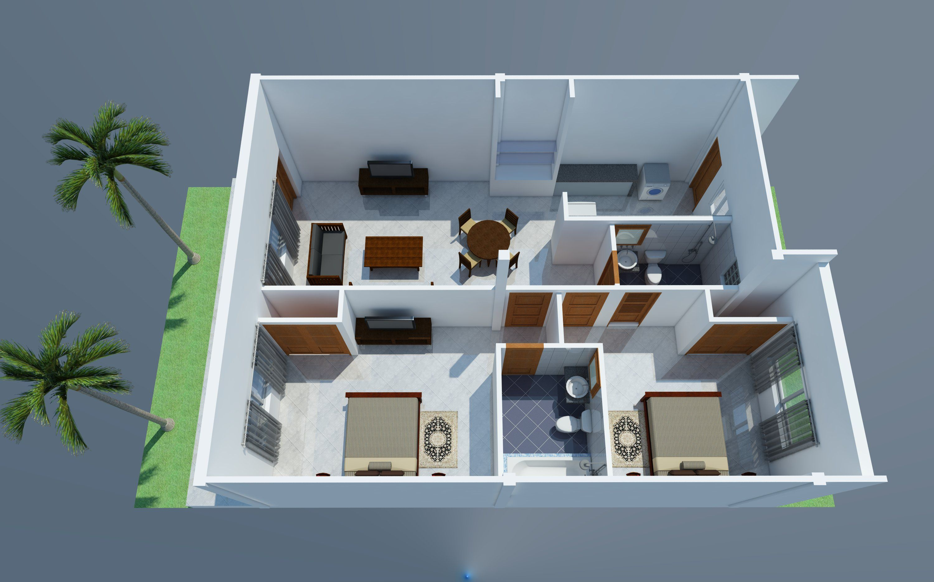 Apartment Plans 10x30 With 18 Units House Plans Free Downloads Apartment Plans House Plans Apartment Architecture