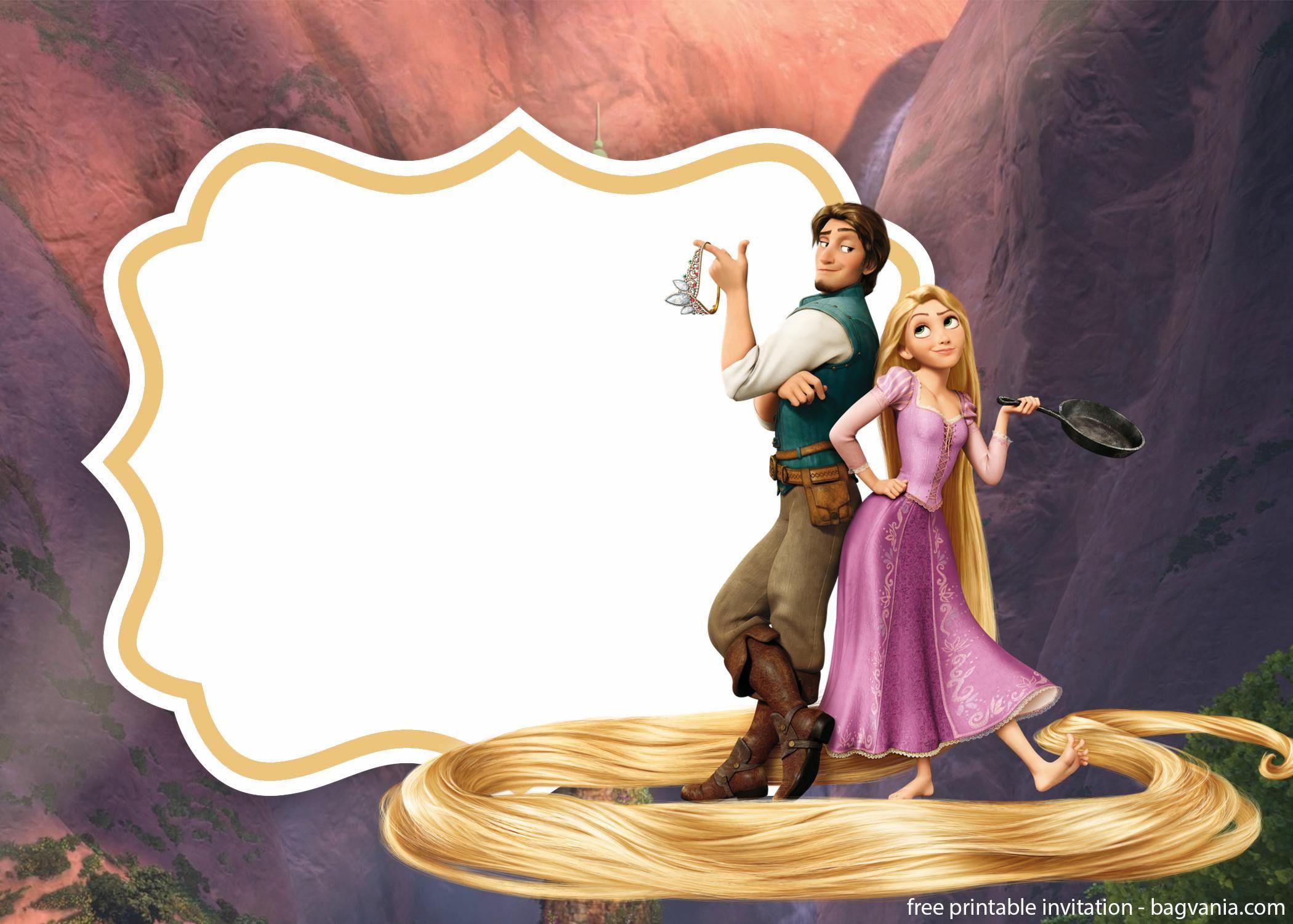 Free Royal Rapunzel Invitation Template Rapunzel Invitations Printable Birthday Invitations Birthday Invitation Templates