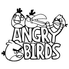 Top 40 Free Printable Angry Birds Coloring Pages Online Bird