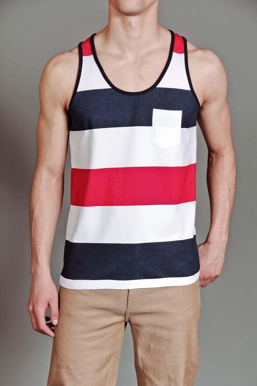 762275b59815a7 GOODALE STRIPED TANK TOP. JackThreads - Striped Tank Top Mens Sleeveless  Shirts ...