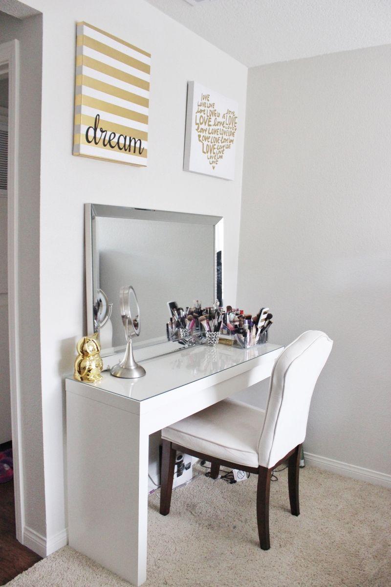 Beauty Vanity Make Up Vanity Minimalist Organized