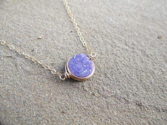 Check out this item in my Etsy shop https://www.etsy.com/listing/287952957/amethyst-purple-sideways-wire-wrapped #theloveleighlocket #etsy #google #pinterest #purplenecklace #goldnecklace #mothersdaygift #eastwestnecklace #druzy #minimalistjewelry #minimalistnecklace