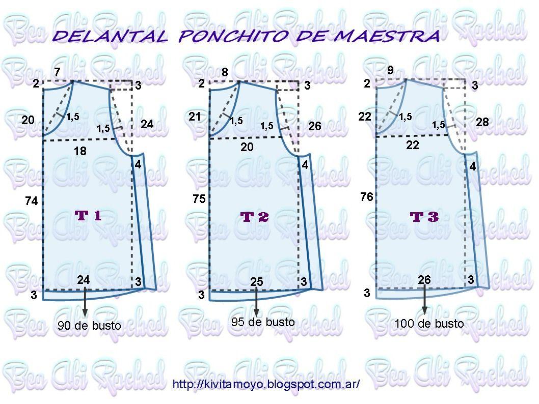 Blog de patronaje y diseño | ponchito | Pinterest | Costura ...