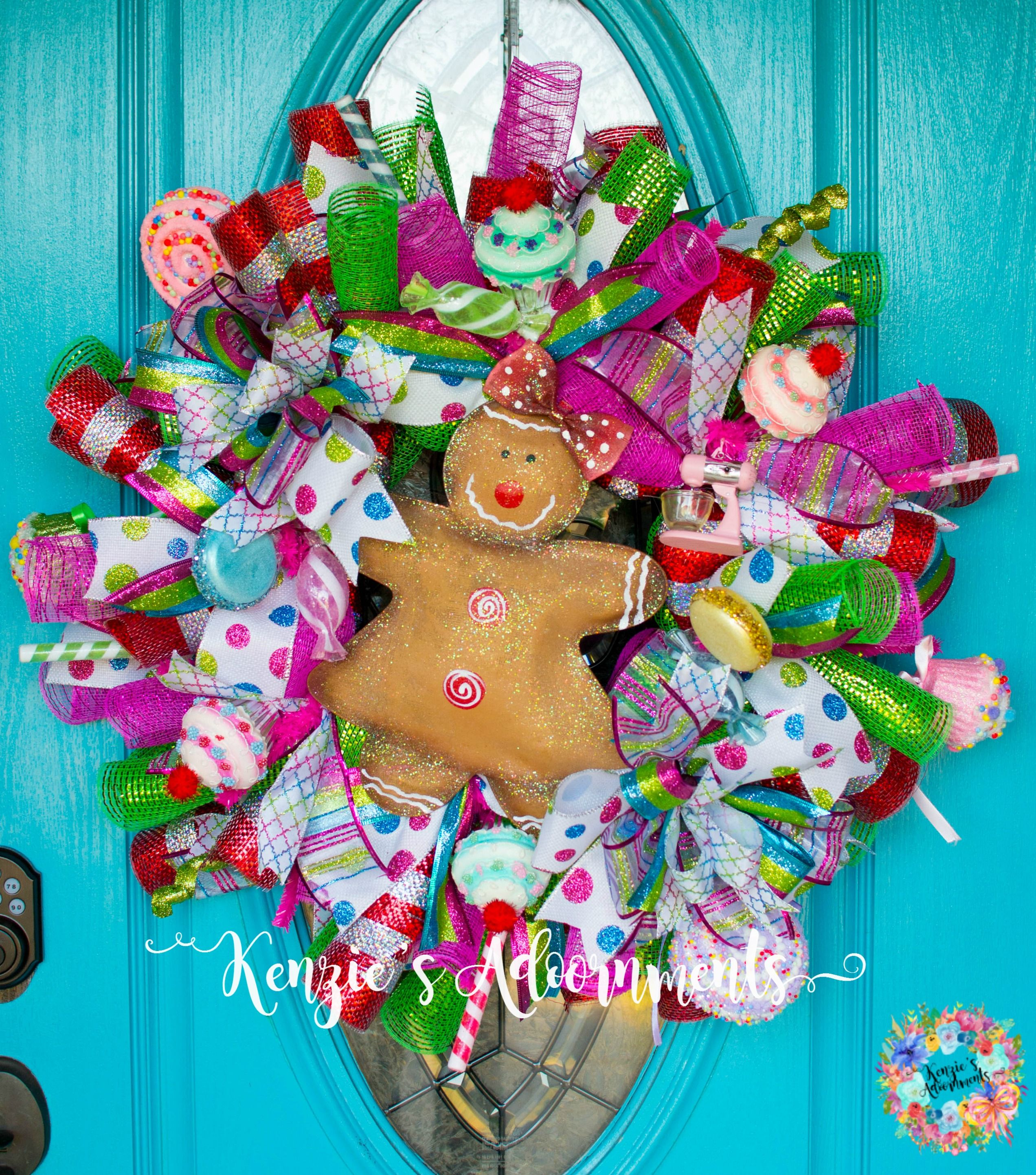 Gingerbread Wreath made by KenziesAdoornments