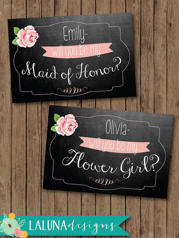 Will You Be My Bridesmaid Cards, Bridesmaid Gift, Printable
