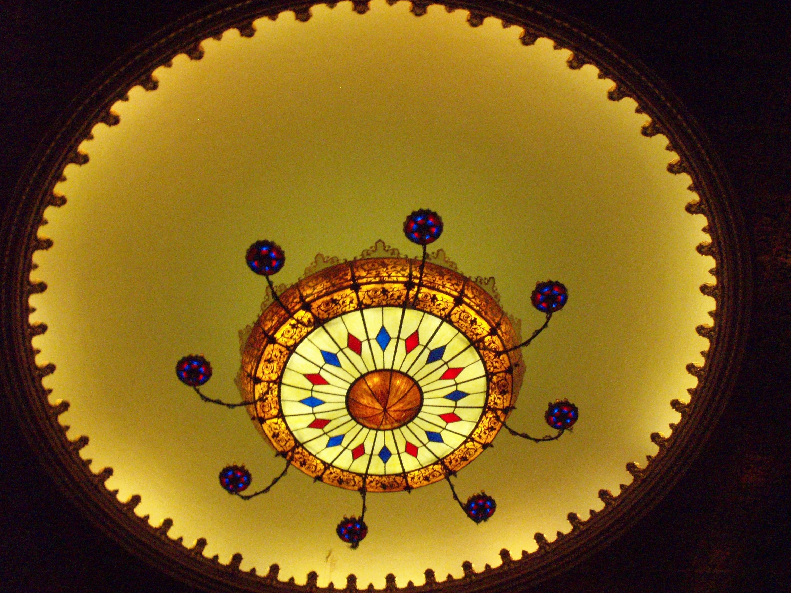 The worlds largest chandelier made by the meyda tiffany chandelier the worlds largest chandelier made by the meyda tiffany chandelier company now adorns the stanley theatre aloadofball Image collections