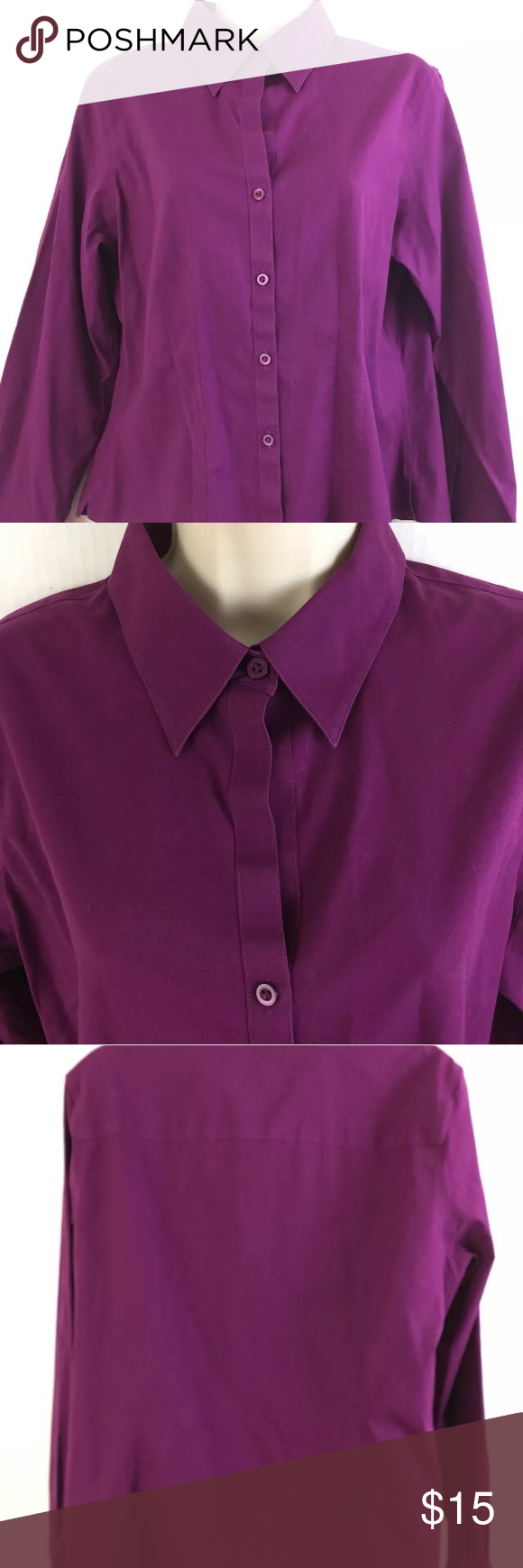 Pink dress shirt for women  Foxcroft Size  Petite Non Iron Stretch Shirt Foxcroft Womens size